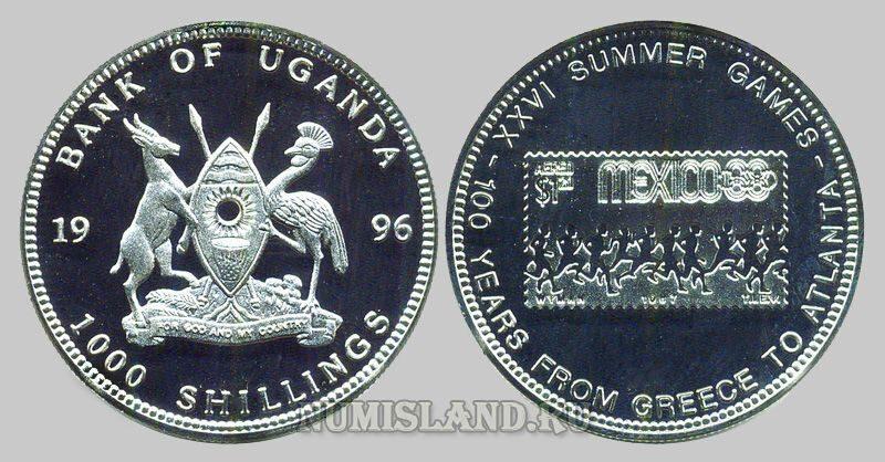 Монеты уганды олимпиада 2 копейки 1977 года цена стоимость монеты