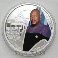 Тувалу 1 доллар 2015 PROOF Стар Трек Captain Sisko Звездный Путь
